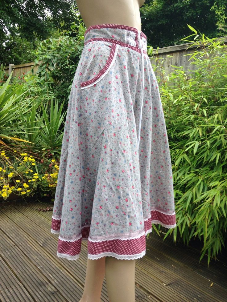 Original 70s GUNNIES by Gunne Sax prairie skirt in grey &