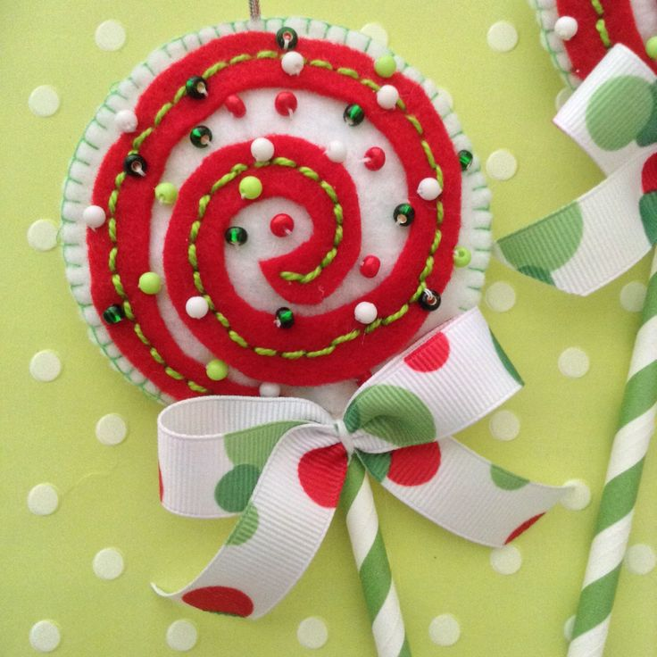 A personal favorite from my Etsy shop https://www.etsy.com/listing/244541442/christmas-lollipops-ornaments-whimsical