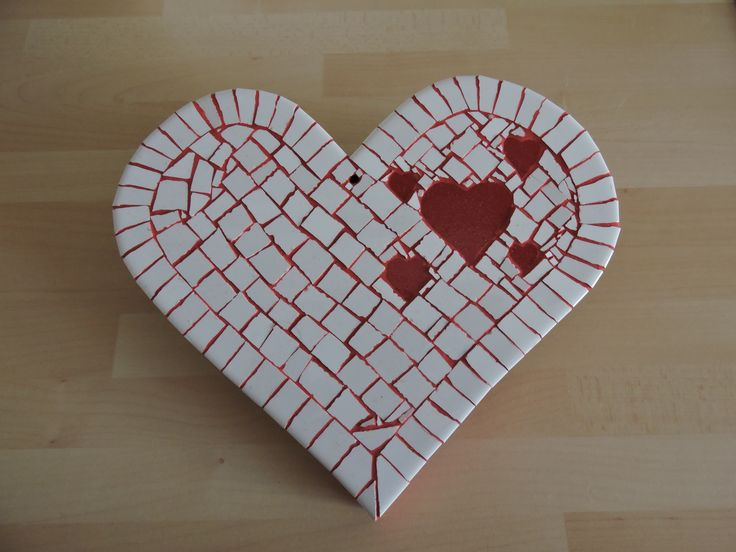 Mosaik Herz mit Herz