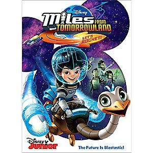 Miles from Tomorrowland: Let's Rocket! DVD | Disney Store In <i>Miles from Tomorrowland: Let's Rocket!</i> you get to climb aboard the starship ''Stellosphere'' and meet Miles Callisto, his loving family and his best buddy Merc, a robo-ostrich built for speed, friendship and fun!