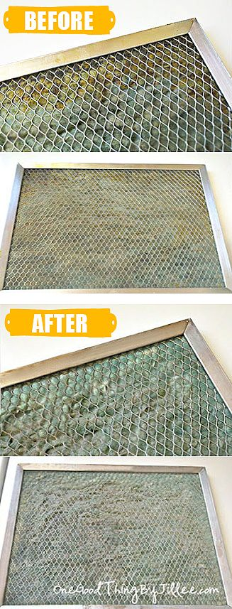 Your stove hood filter collects a lot of grease! Here's an easy way to get it clean :-)