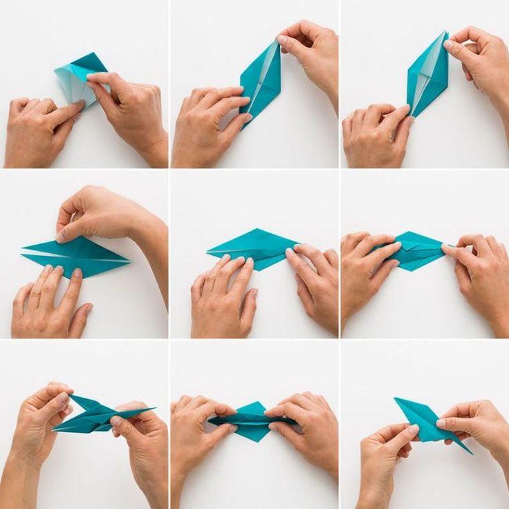hacer una grulla de papel
