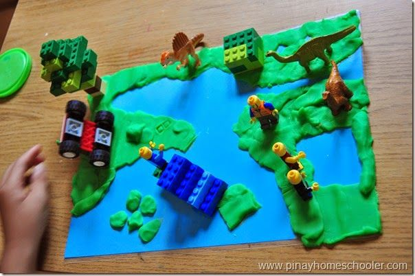 Introducing landforms using Lego and Playdoh