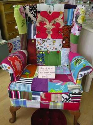 Funky, funky, funky: Sewing Room, Funky Chairs, Favorite Places, Quilted Chair, Patchwork Chair, Funky Furniture, Craft Ideas