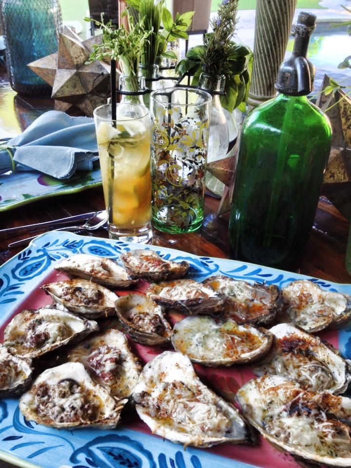 Chargrilled Oysters at Hugo's Oyster Bar