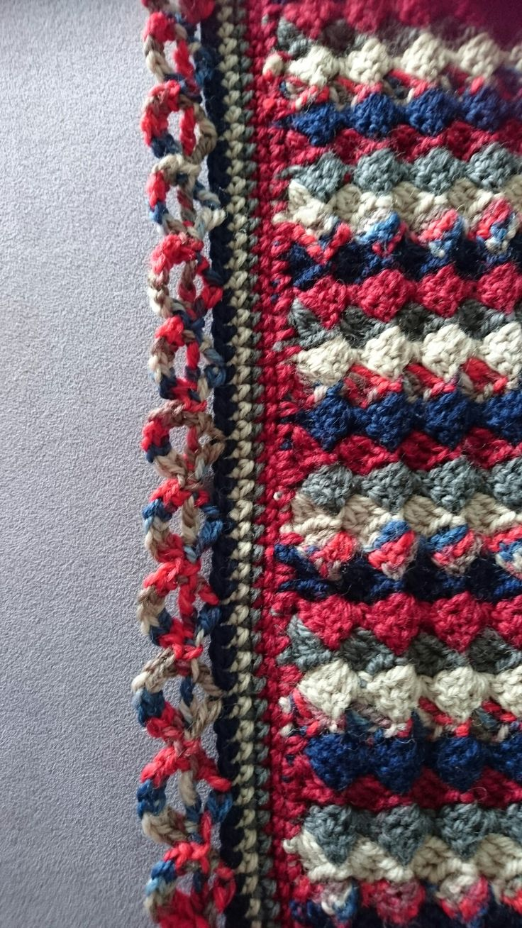 The boarder finished off  my Afghan.