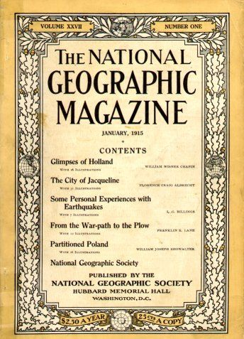 """On January 27th, 1888, the National Geographic Society was founded in Washington, DC, for """"the increase and diffusion of geographical knowledge"""". #natgeo"""