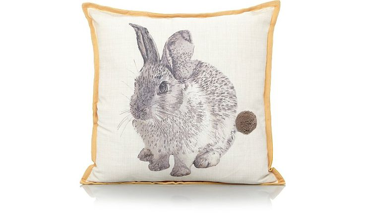 We think you'll love this cute bunny cushion as much as we do. Made from 100% cotton, it's easy to look after and features a cute pom pom bunny tail.  • Bunn...