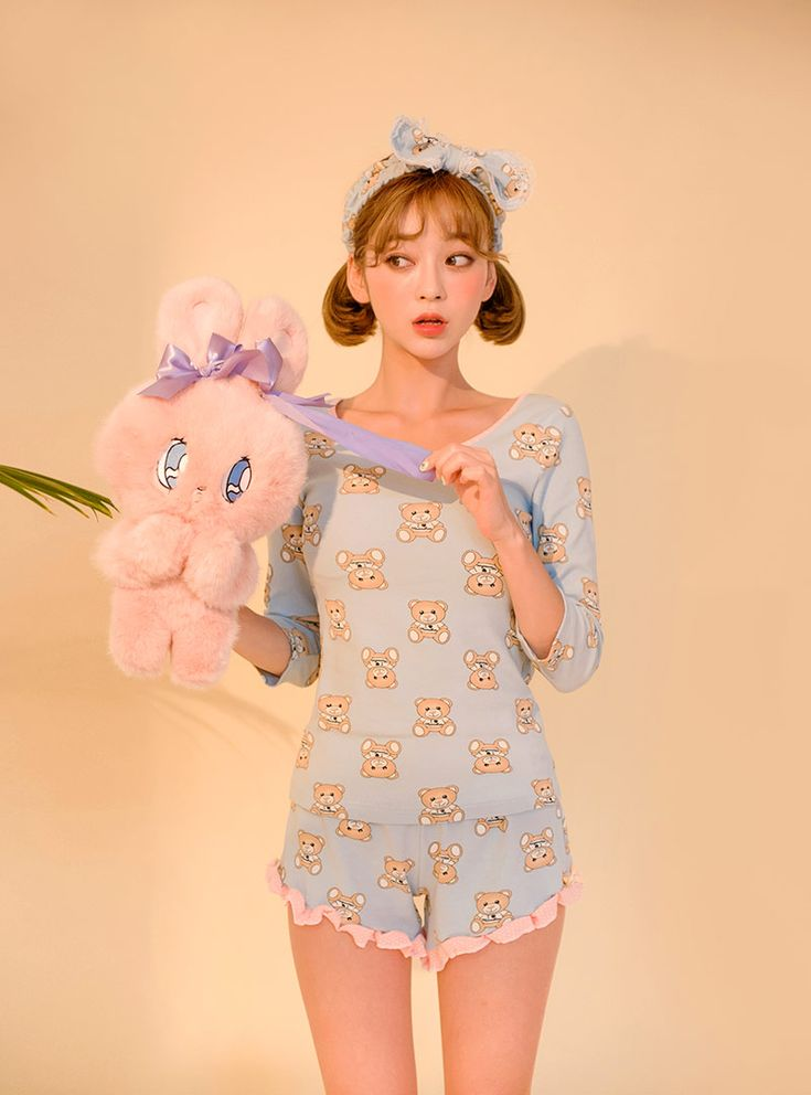 I Fancy Bears Pajama + Hairband Set