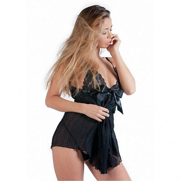 De Namour Babydoll With Classy Ribbon And G-String - Adult Gifts Australia