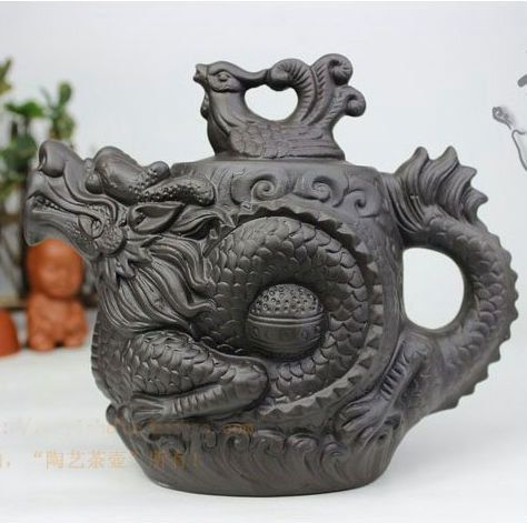 Beautiful Classic Dragon Phoenix Teapot by TheRedZion on Etsy