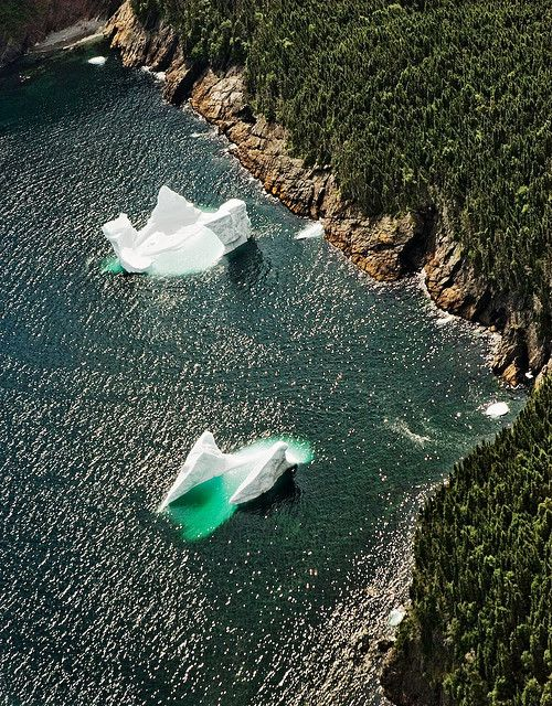 I want to touch an iceberg ... off the coast of Newfoundland.