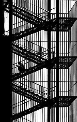 V-shaped stairs by Bahadir Bermek.