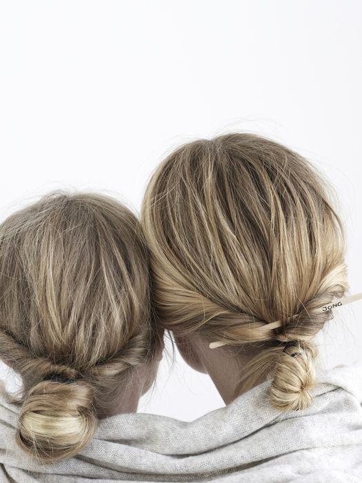 #hair #twist: Flowers Girls Hair, Hair Twists, Buns Hairstyles, Twists Buns, Messy Buns, Hair Style, Low Chignons, Hair Buns, Low Buns
