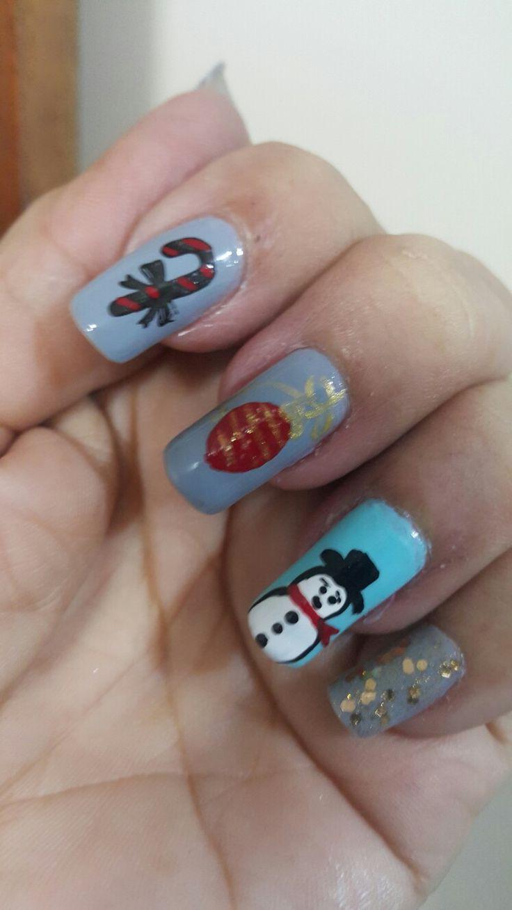 #uñas.....#nails navidad... 🌲❄⛄