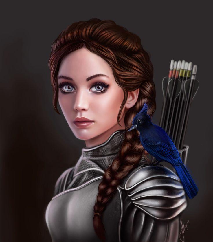 """digital art арт рисунок девушка girl art  drawing По мотивам книги """"Голодные игры"""" Китнисс Эвердин. The Hunger Games, Katniss Everdeen"""