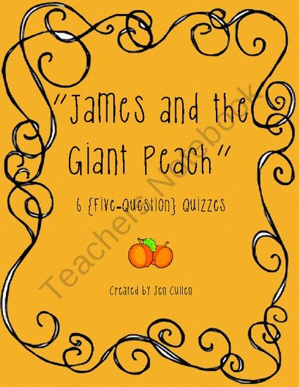 james and the giant peach teacher guide