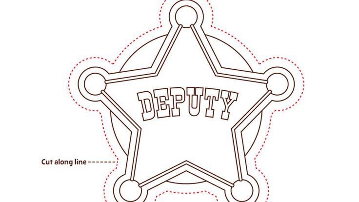 Gallery For gt Sheriff Badge Coloring Page
