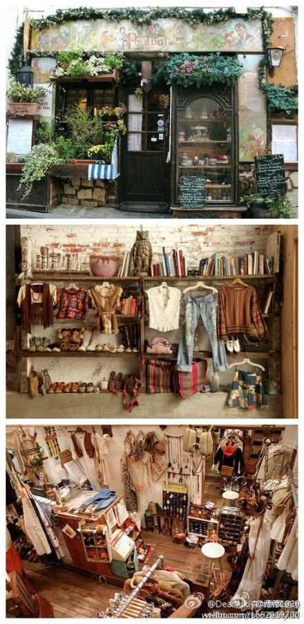 one day I will be like this one...  idea for my clothing display space