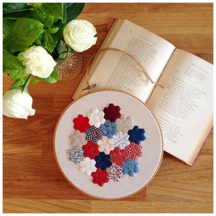 SHOP UPDATE Mr Patriots Flower Garden has been listed in my shop! #etsy #etsyaustralia #etsyseller #missleelahandmade #epp #patchwork #miniature #hoopart #flower #garden