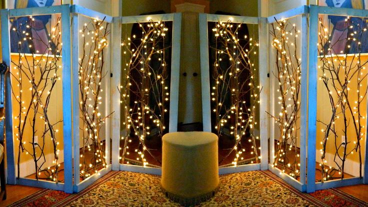 Mark Montano: Twinkling Branches Room Divider DIY