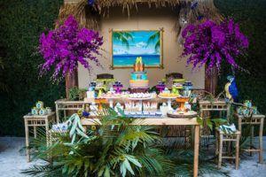 Dessert table from an American Girl Doll Lea Clark - Rainforest Birthday Party on Kara's Party Ideas | KarasPartyIdeas.com (34)