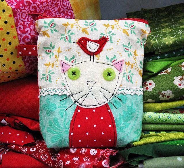 Grumpy kitty pouch