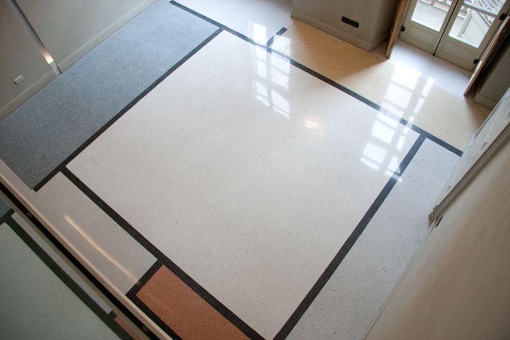 terrazzo floor Mondrian design