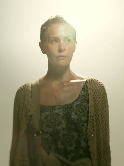 Carol Peletier (Melissa McBride)  With the death of her abusive husband Ed, Carol finds additional inner strength and some peace of mind that the main threat to her and her daughter Sophia now only comes from outside the group. But her nightmare is just beginning