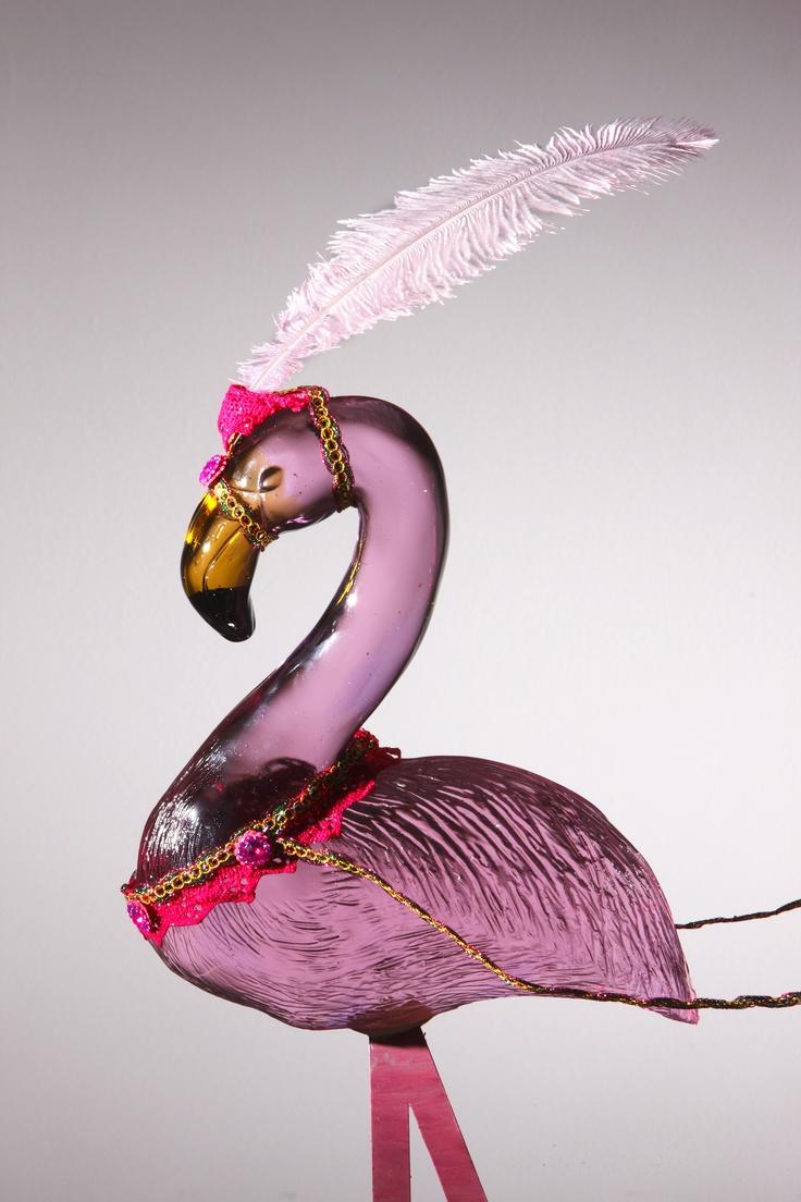 Ringo the Flamingo    www.youngsglassdesign.com  Photo by Simon Bruntnel