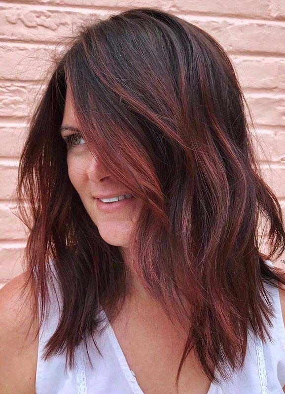 Fantastic Red Balayage Hair Color Ideas For Women In 2020 In 2020 Red Balayage Hair Red Balayage Hair Burgundy Brunette Hair Color