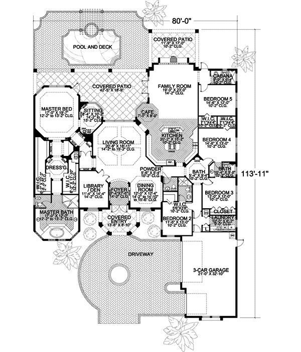 OMG!!!! This is the perfect house plan for my dream home! My room is huge! There are enough rooms for all the kids, and Catalina's room would have the separated entrance... I love this floor plan! And don't forget about the pool! AWESOME!!!!!