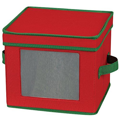 Store holiday dinnerware safely in this cotton canvas storage chest from #Household #Essentials. This chest is designed to hold 12 salad plates and/or bowls with ...
