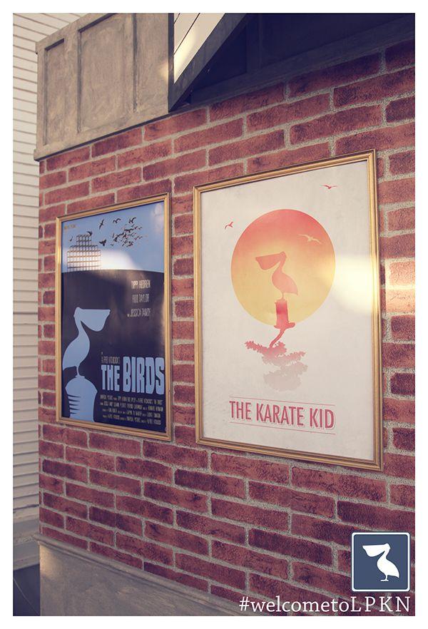 Old Cinema Photo Booth. Vintage movie posters.