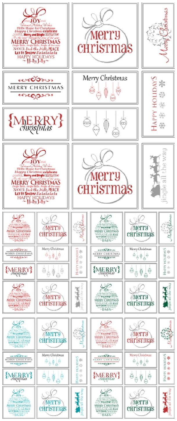 Free Printable Holiday Gift Tags - Perfect for Christmas in Your Choice of Colors via Belvedere Designs Blog