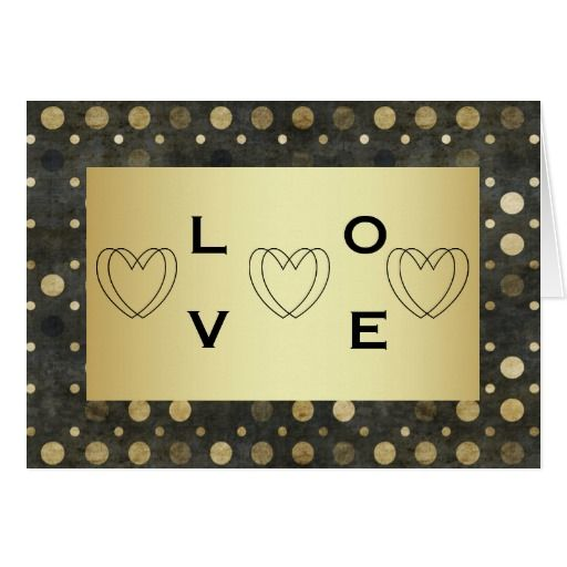 Gold & dots Valentine's Day Card with Your Names