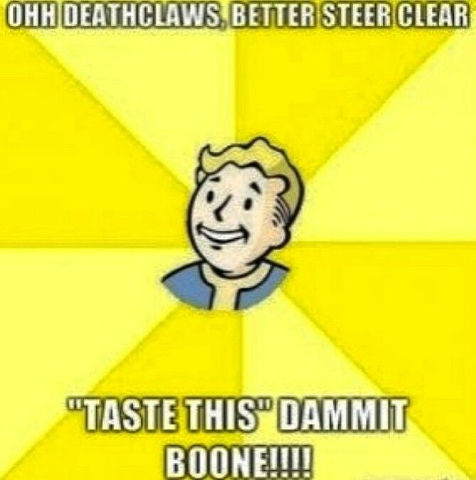 Found tons of fallout pics. Be prepared for a fallout spam. Dammit boone! Haha fallout new vegas funny