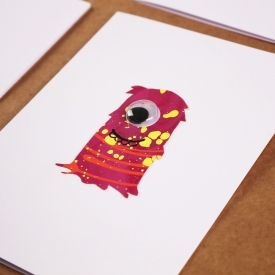 DIY Halloween Monster Silhouette Cards with free printable stencils
