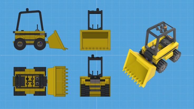 Really fun model of Lego Front End Loader from the Lego City Set.  Done in Modo with under 20k polygons.  Getting the hang of using materials, especially the glass!