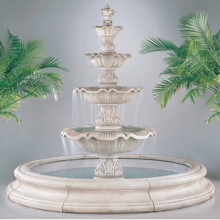 This Four Tier Renaissance Fountain In Toscana Pool will add elegance to any outdoor area while creating a relaxing sound of water flowing.Click Here to Order Physical Color Samples