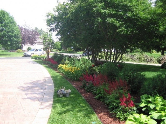Colorful Property Line Border Landscape For Lining The
