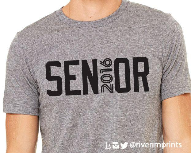 SENIOR 2016, short sleeve tee shirt, 2016 SENIOR graphic t-shirt