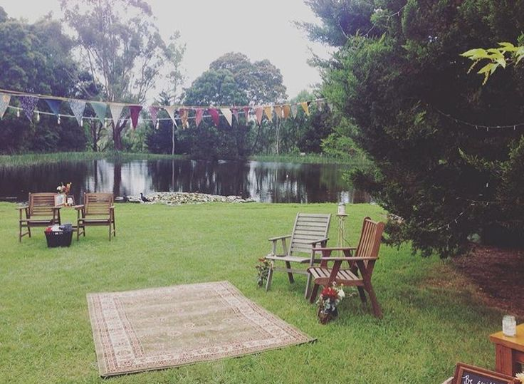 Our wedding rugs and chairs #bunting #rugs #boho