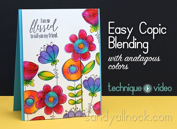 Sandy Allnock Easy Copic blending with Doodle Buds