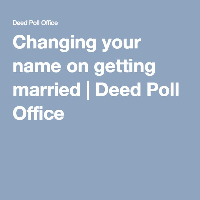 17 Best Ideas About Deed Poll Name Change On Pinterest