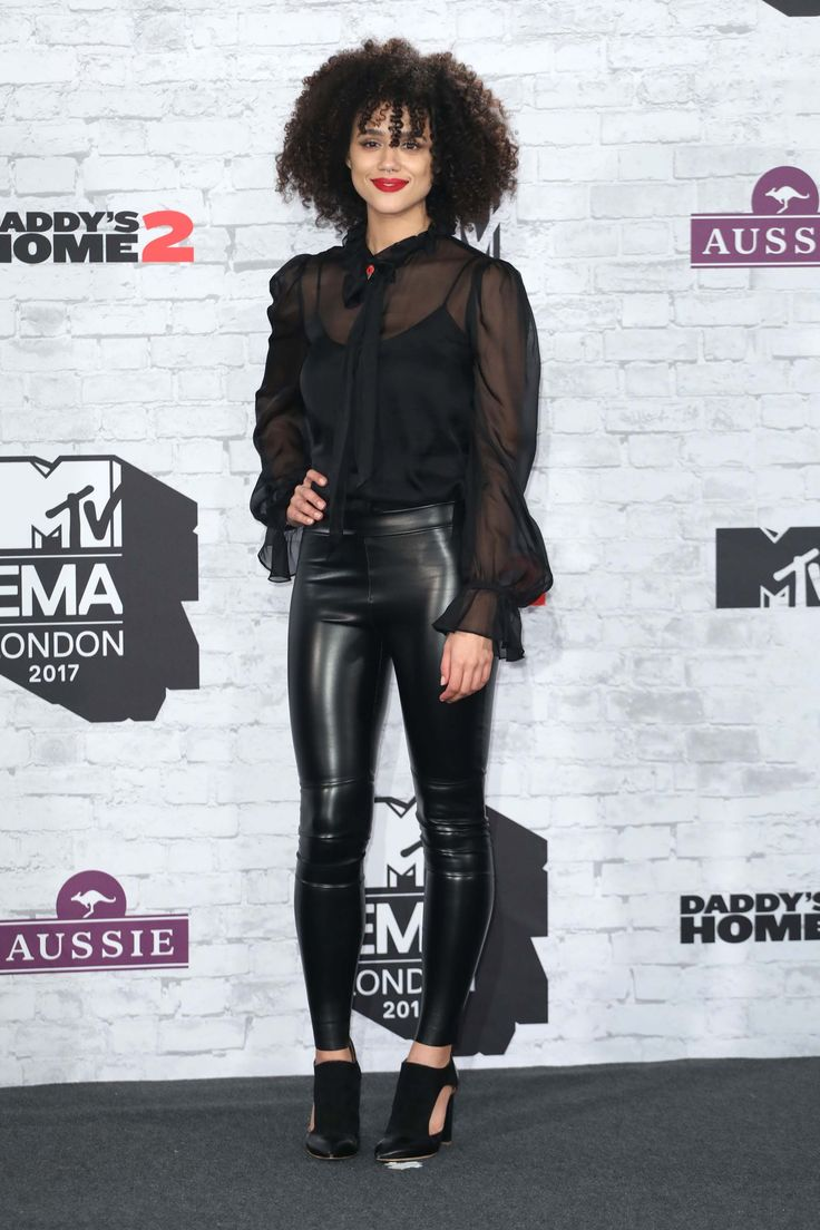 "Nathalie Emmanuel from ""Game of Thrones"", attends 24th MTV Europe Music Awards"