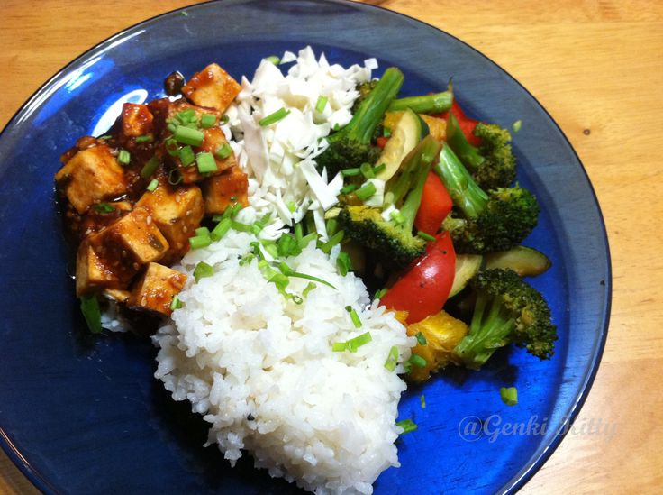 Korean BBQ Tofu Dinner Recipe Vegan