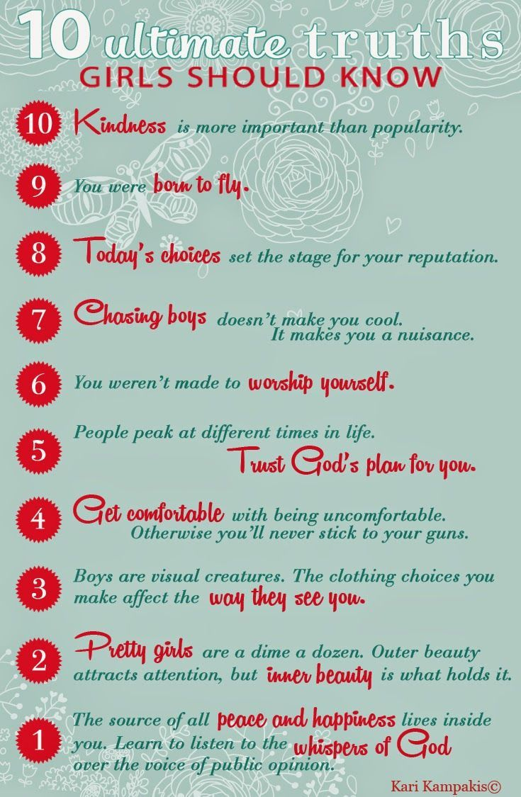 10 Truths Girls Should Know