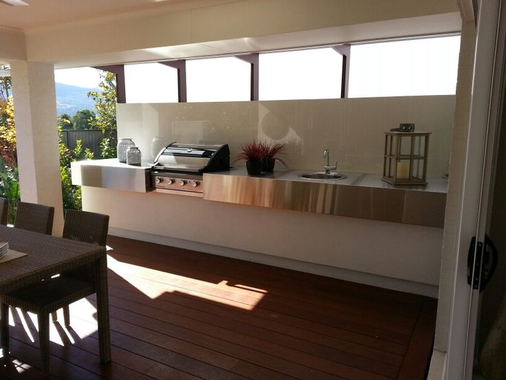 BBQ AREA IN SHOW HOME