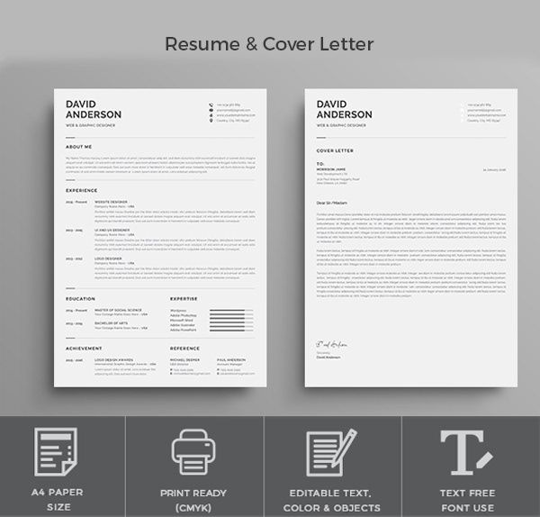 Resume Template Modern Professional Resume Template On Behance Resume Template Professional Resume Templates Creative Resume Template Free